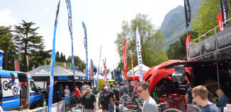 L'entrata del Bike FEstival MTB di Riva del Garda