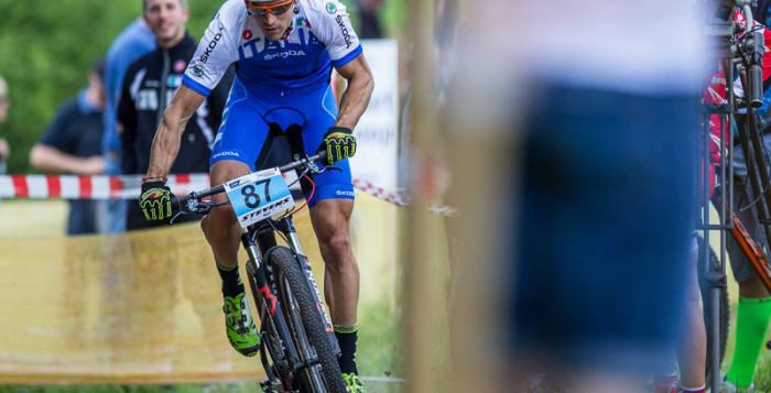 Andrea Tiberi in gara